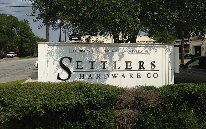 SETTLERS HARDWARE IS OPEN THURSDAY-SATURDAY FROM 10AM-5PM